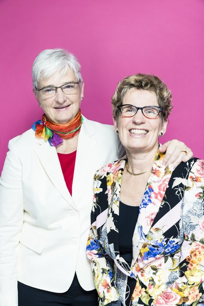 Jane Rounthwaite and Premier Kathleen Wynne pose for Pride Toronto 2016, photo Raina Wilson