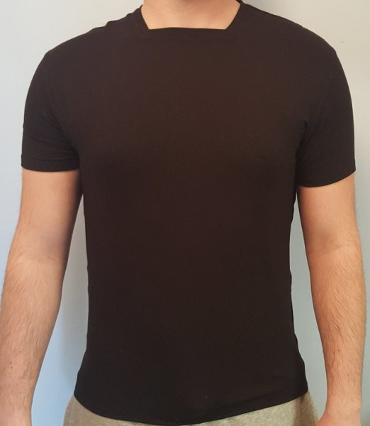 Miik Men Mick Black Square Neck Tee, $112