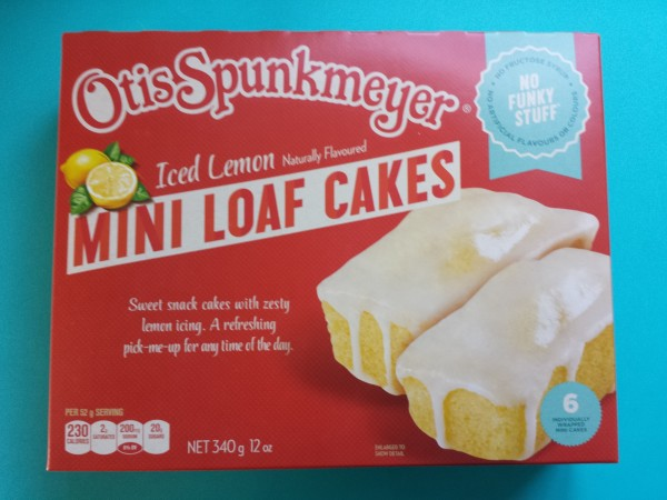 Otis Spunkmeyer Iced Lemon Mini Loaf Cakes