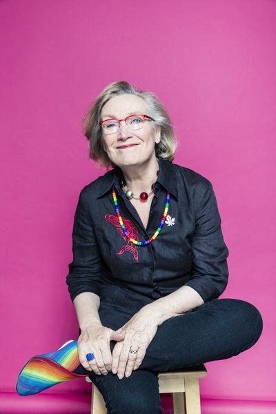 The Honourable Carolyn Bennett, MP, poses for Pride Toronto in 2016, photo Raina Wilson