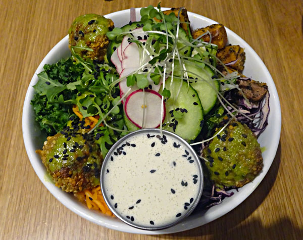 Falafel is part of the K&K Paleo dish at Kupfert & Kim in Toronto.