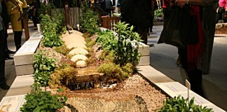 A rain garden by Parklane at Canada Blooms at Enercare Centre in Toronto