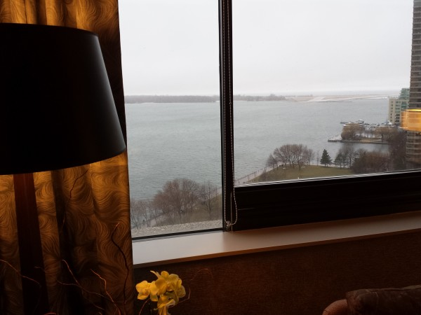 Another view of the lake from Corner King Room at The Westin Harbour Castle