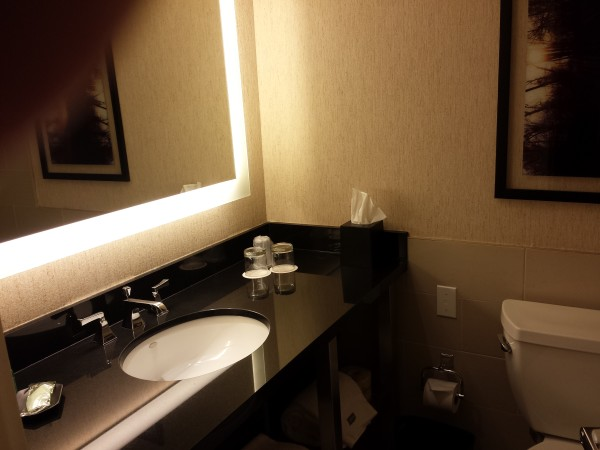 Bathroom in Corner King Room at The Westin Harbour Castle in Toronto