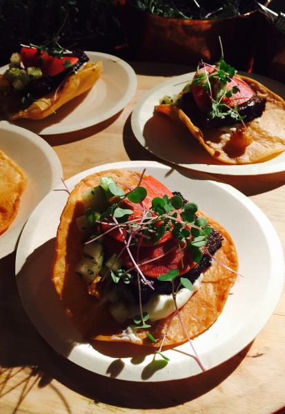 Beef Short Rib Tostadas with Lee's Ghee from The Good Earth Food & Wine Co. at Recipe for Change 2016