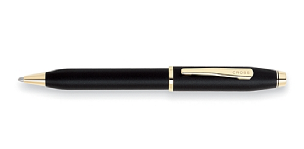 Cross Century II Classic Black Ballpoint Pen With 23K Gold Plated appointments, $108