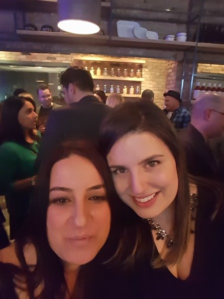 My friend Claudia and I at the Batch Toronto launch party in Toronto