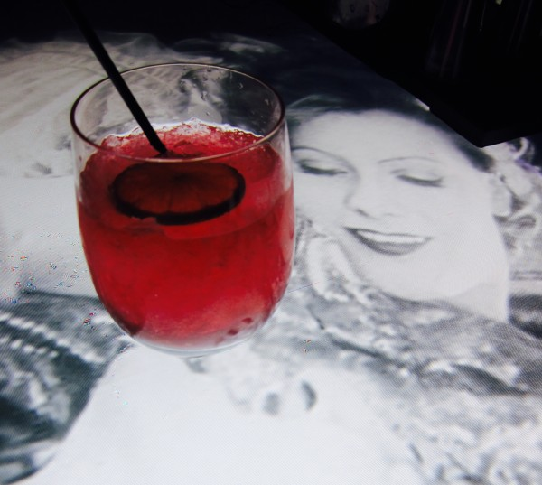 Strawberry Cosmo at Entice Lounge