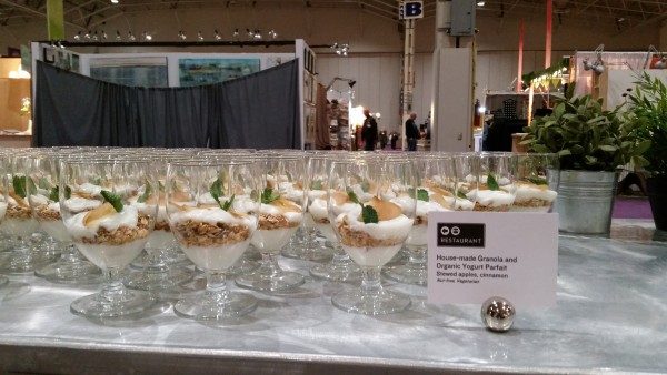 Granola Organic Yogourt Parfait at One of a Kind Show Media Breakfast