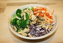Buddha's Satay topped up with tofu at Freshii Liberty Village
