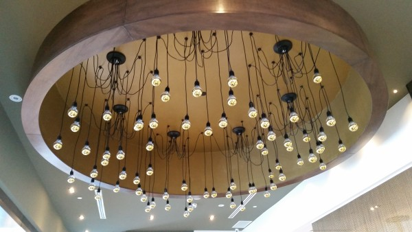 Light fixture at Paramount Fine Foods at Shops at Don Mills
