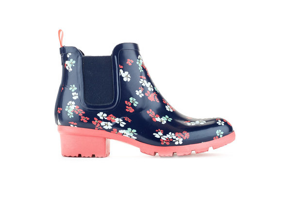 Terri Women's Rubber Boots in Spring Flower, $80, from Cougar Boots