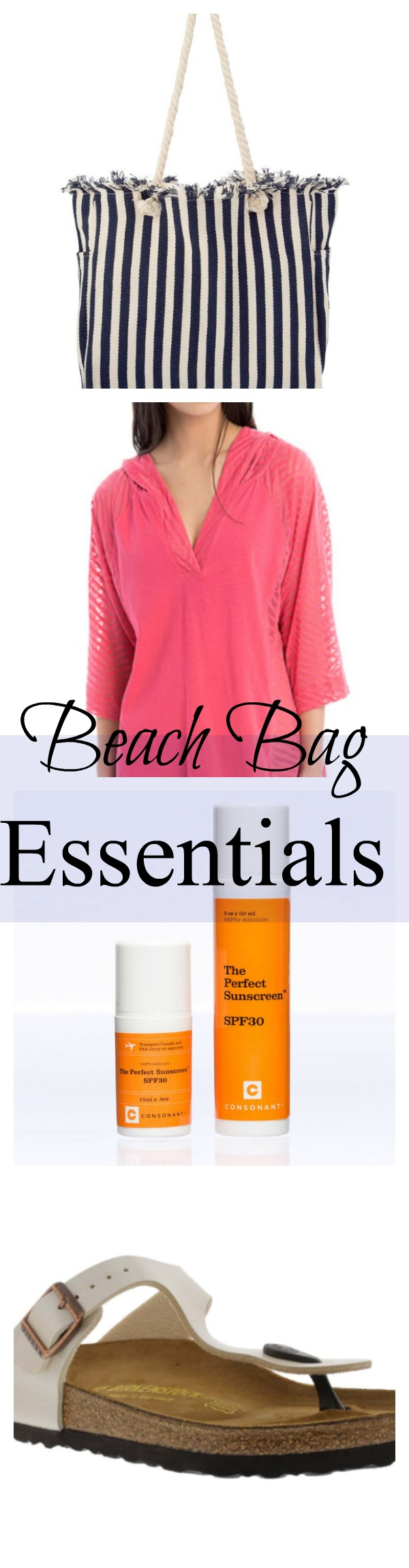 Collage Beach Bag Essentials