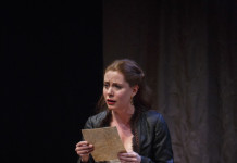 Krystin Pellerin as Lady Macbeth in Macbeth at the Stratford Festival, photo David Hou