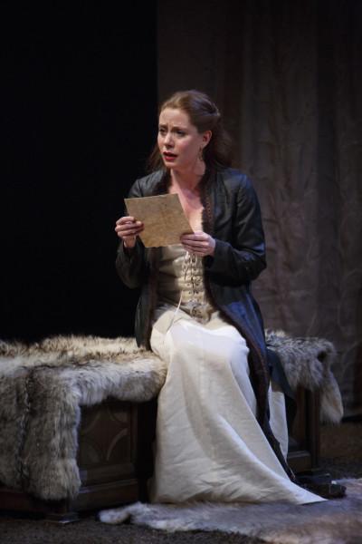 Krystin Pellerin as Lady Macbeth in Macbeth at the Stratford Festival, photo David Hou