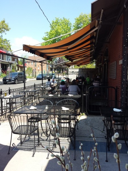 Patio at Pappas Grill on the Danforth