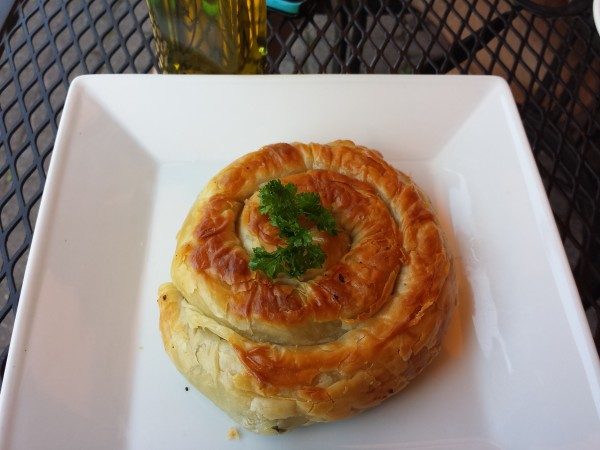 Spanokopita appetizer at Pappas Grill on The Danforth