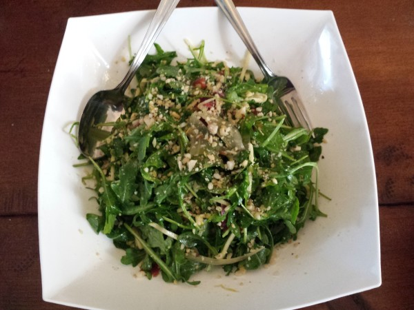 Arugula salad with fennel prepared by Chef Eyal Liebman of Chef and Somm using Microplane graters