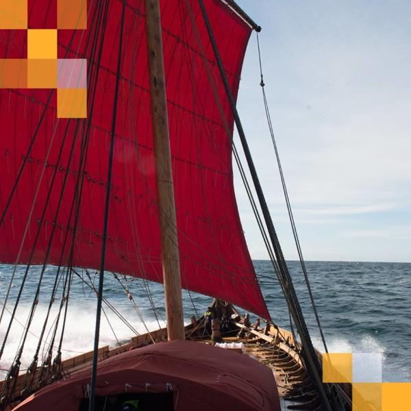 Draken Harald Harfagre Viking Ship at Redpath Waterfront Festival