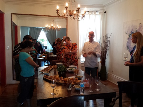Enjoying Chef Eyal Liebman of Chef and Somm's dishes prepared using Microplane graters