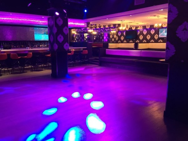 Nightclub on lower level at Posh Supperclub in Toronto