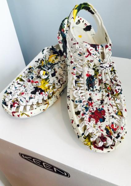 Splatter shoes from KEEN's UNEEK line