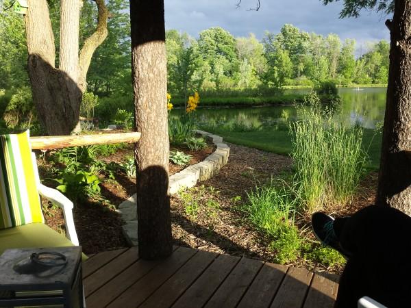 View of Lake McCarthy from the gazebo