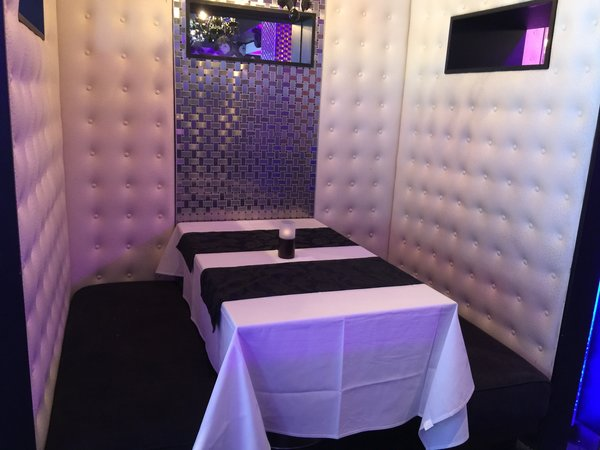 Private booth at Posh Supperclub in Toronto