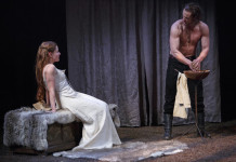 Krystin Pellerin as Lady Macbeth and Ian Lake as Macbeth in Macbeth. Photography by David Hou.