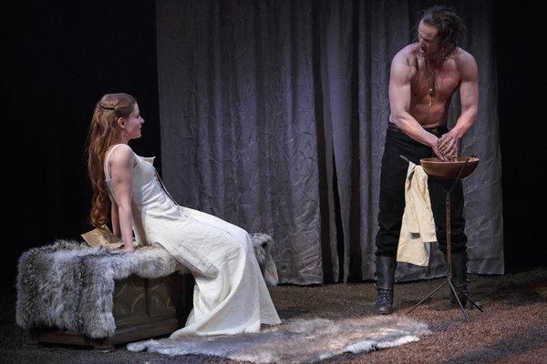 Krystin Pellerin as Lady Macbeth and Ian Lake as Macbeth in Macbeth. Photography by David Hou.