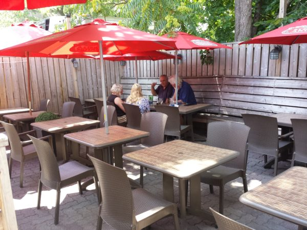 Back patio at Factory Girl, Danforth