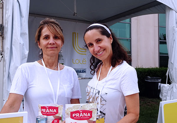 My sister and I feasted on the spicy bite and crispy texture of the Prana coconut chips at the Lole White Tour in Toronto July 2016.