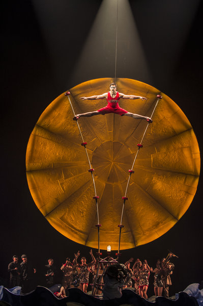 Acrobat performs at Cirque du Soleil's Luzia in Toronto