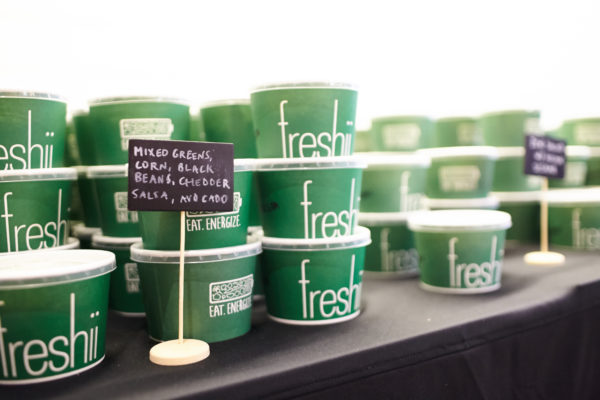 Freshii meals served at Freshii lululemon Sweat Like a Champion event in Toronto