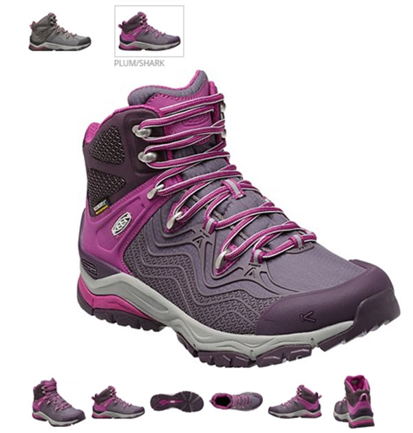 The lightweight KEEN Aphlex hiking boot has structure, stability and suspension.