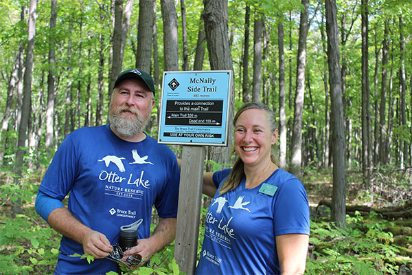 Marsha Russell and Adam Brylowski lead us through McNally Side Trail, photo credit Heather Taylor