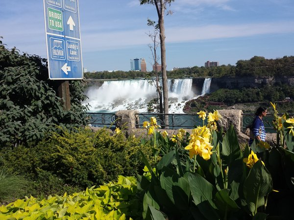 American Falls and Bridal Veil Falls viewed from Niagara Falls, Ontario, Canada