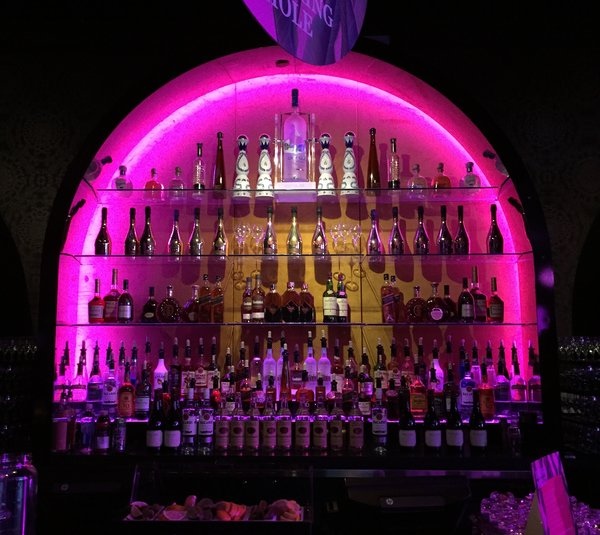 Bar bottles at Boobyball in Toronto in support of Rethink Breast Cancer