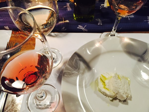 Goat cheese was paired with Castillo de Almansa Rosado at Wine Behind the Scenes event