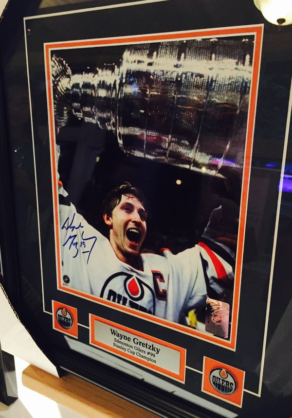 Wayne Gretzky photograph at Eva's Taste Matters at Liberty Grand in Toronto