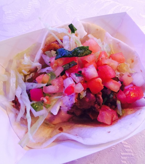 Rancho Relaxo tacos at Eva's Taste Matters at Liberty Grand in Toronto