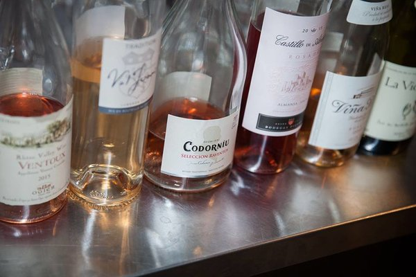 Rose selection at Wine Behind the Scenes event in Toronto