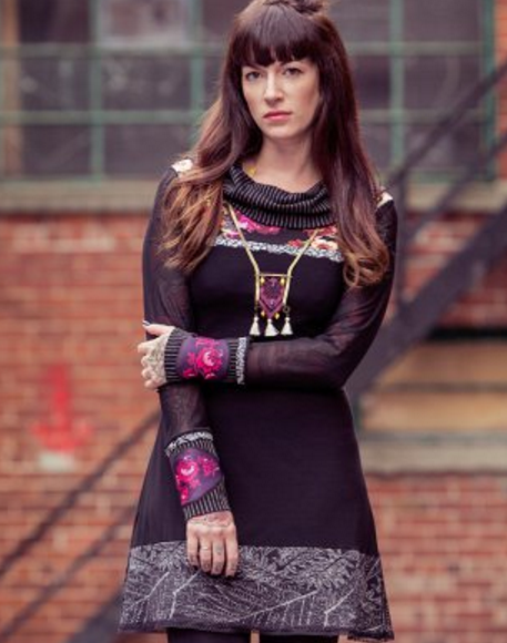 Alice Tunic, $158, from Karine Demers of Metamorphose, Booth W37 at One of a Kind Craft Show in Toronto
