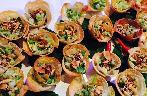 Wonton Cups with Asian salad from Cathy Beneway at Eat to the Beat