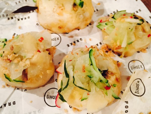 Adobo Pulled Pork Steam Buns from Drake 150 at Eat to the Beat