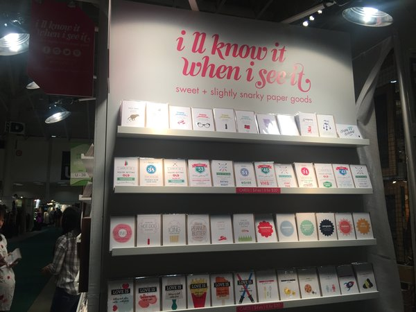 I'll Know It When I See It sweet and snarky paper goods at Booth J39 at One of a Kind Craft Show 2016 in Toronto