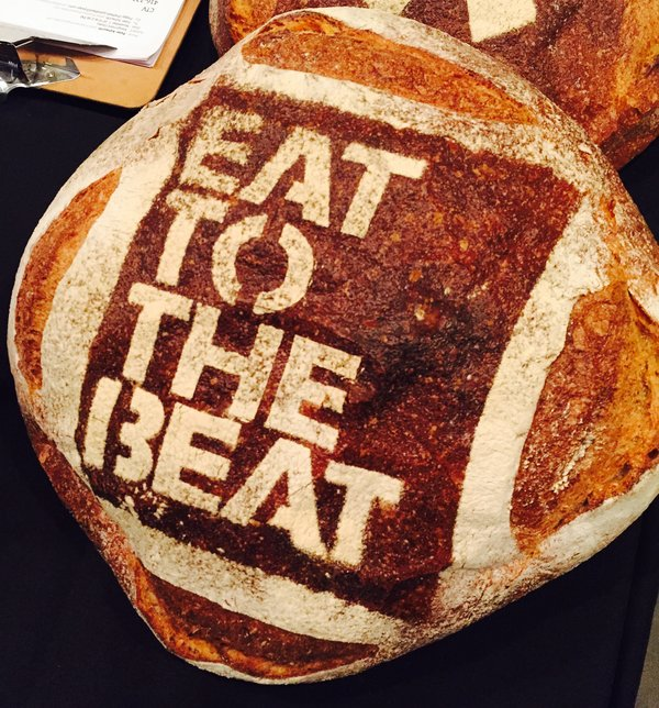 Bread with logo at Eat to the Beat at Roy Thomson Hall