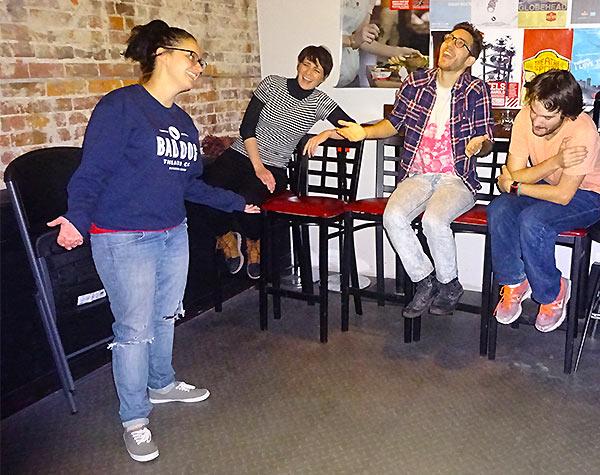 Jess Bryson teaches us improv at Bad Dog Theatre