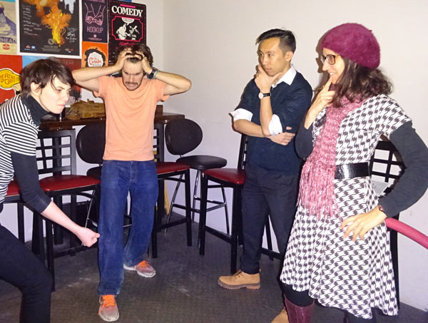 Improv training class at Bad Dog Theatre in Toronto