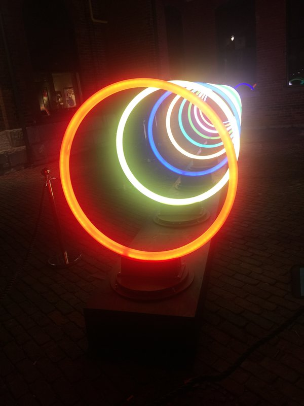 Bands of Friendship by Vikas Patel and Santosh Gujar (India) at Toronto Light Festival
